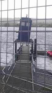 Tardis in a shopping trolley