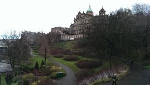 City centre view & gardens