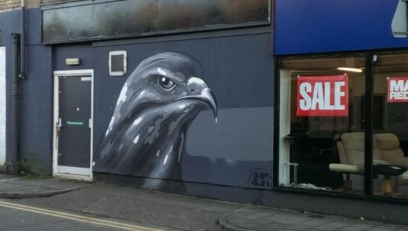 City Road bird mural