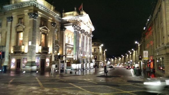 Theatre Royal at night