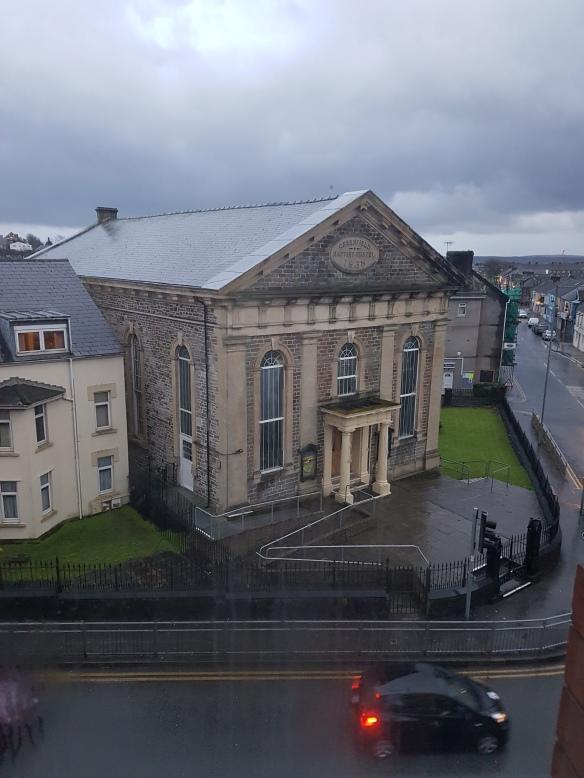 Church from hotel window
