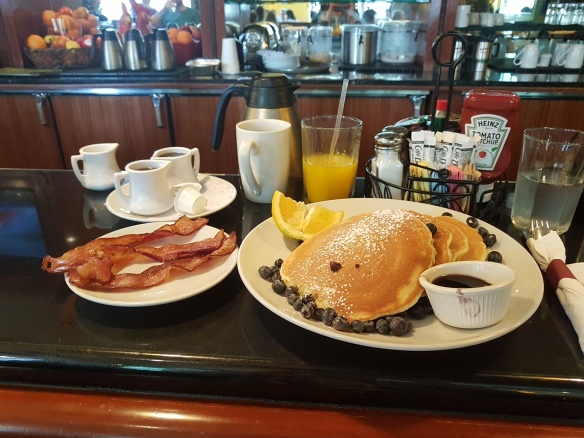 Eggsperience blueberry pancakes