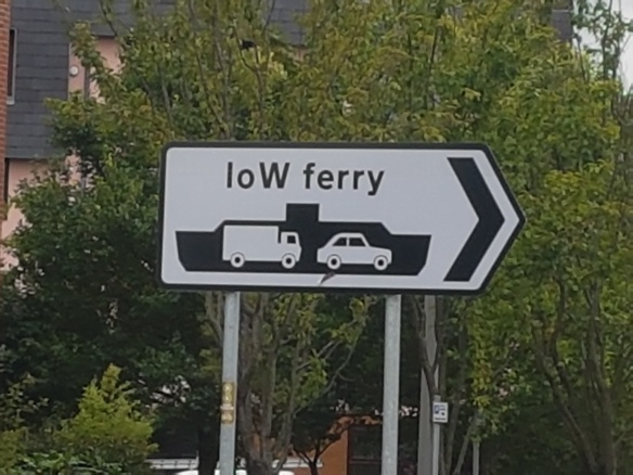 IOW Ferry sign