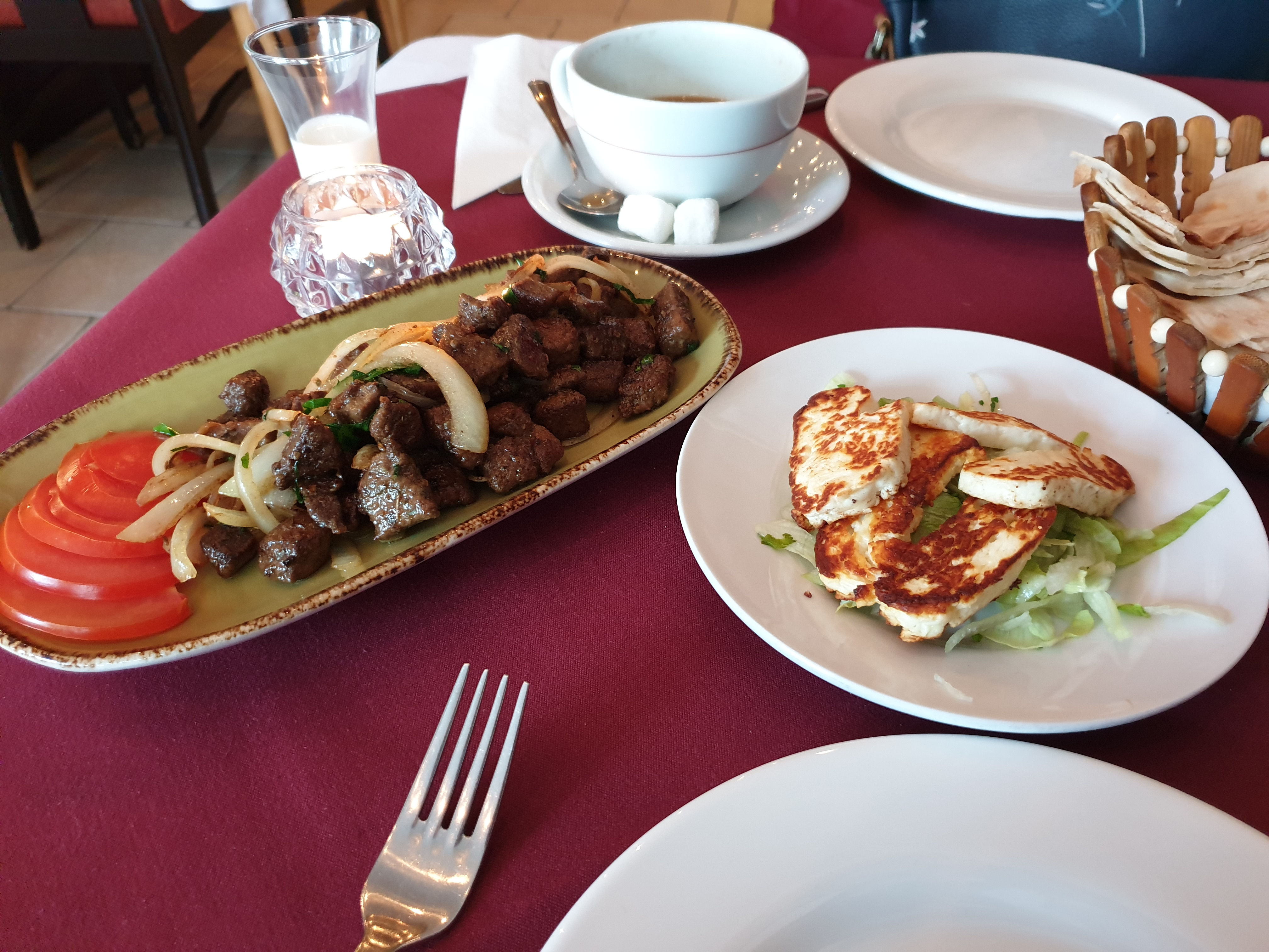 Haloumi and Liver starters